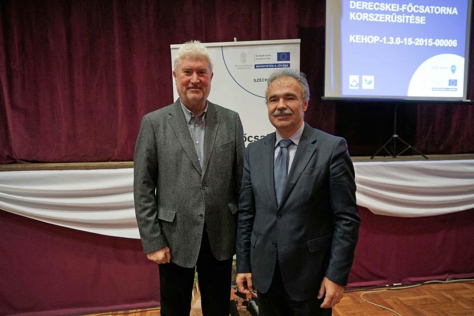 drercskei főcsatorna korszerűsítés 11.29 - dr. Nagy István miniszter