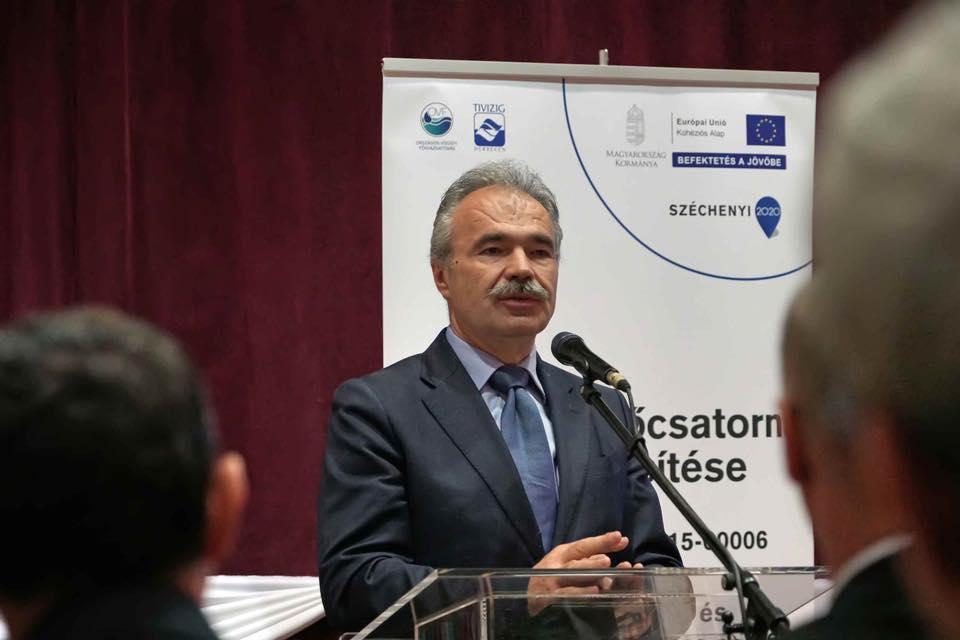 drercskei főcsatorna korszerűsítés - Nagy István miniszter