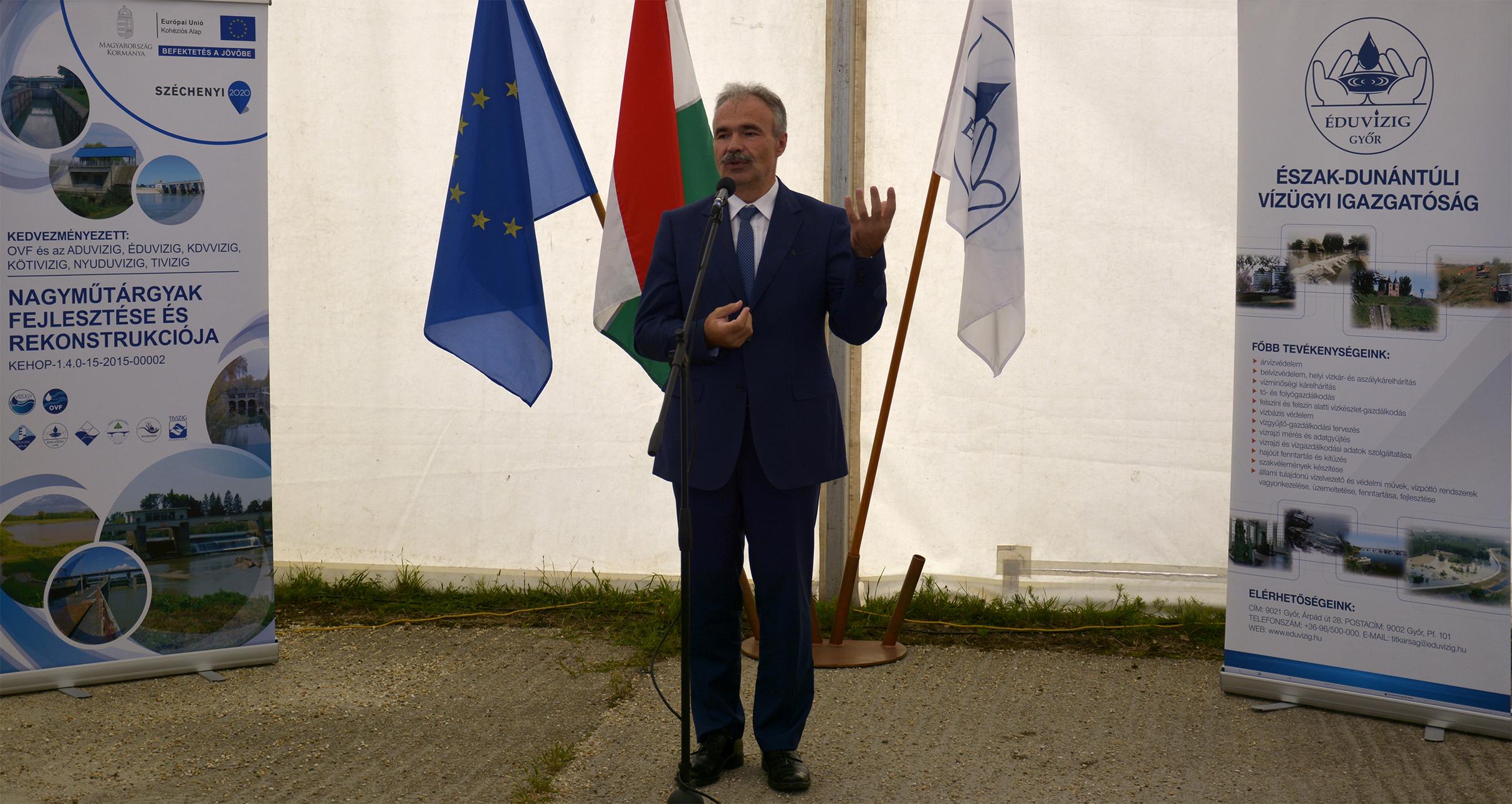 árvízvédelmi és vízvédelmi fejlesztés projektnyitó Dunakilitin - Nagy István miniszter, országgyűlési képviselő