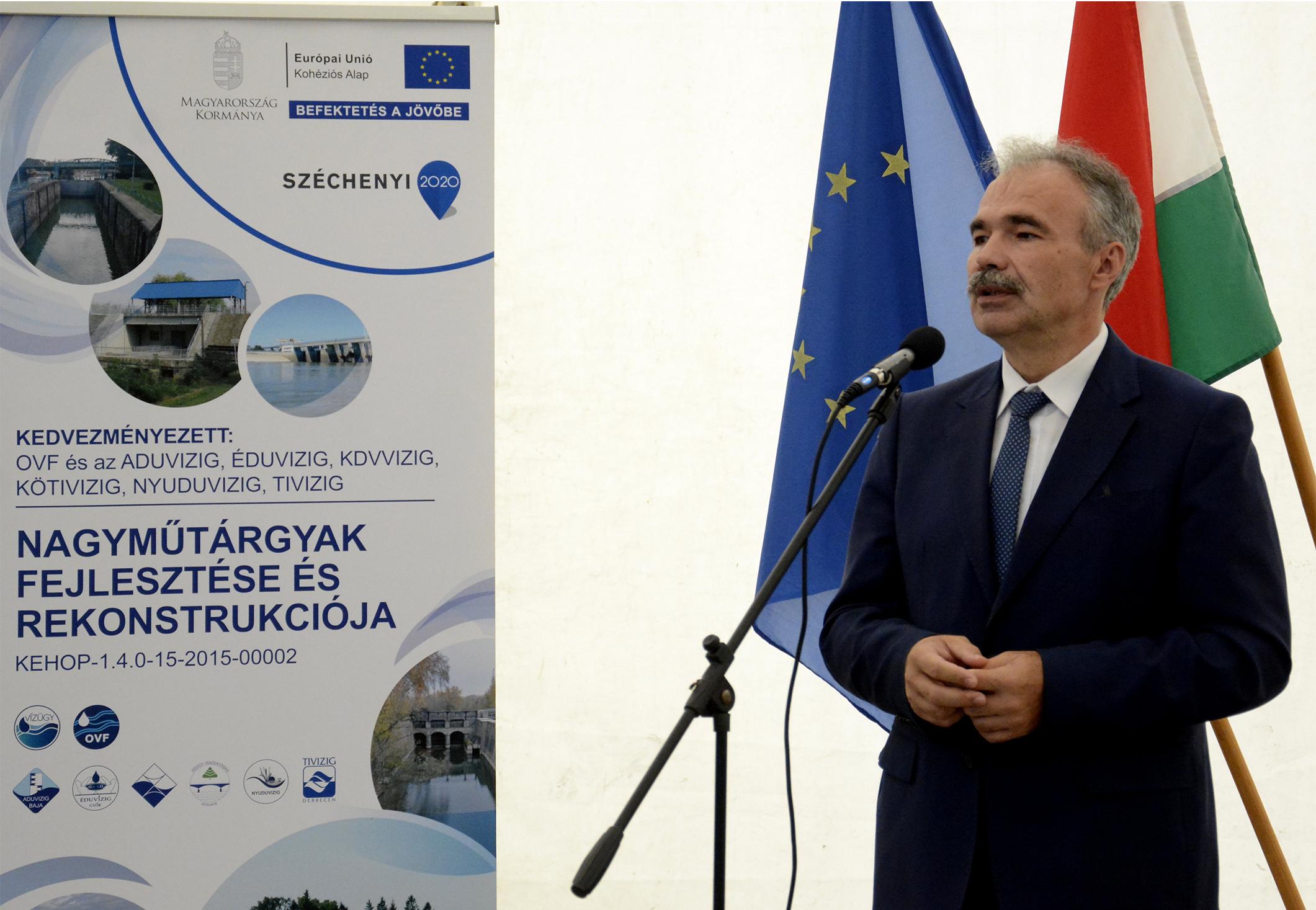 árvízvédelmi és vízvédelmi fejlesztés projektnyitó Dunakilitin - Nagy István miniszter, országgyűlési képviselő 9
