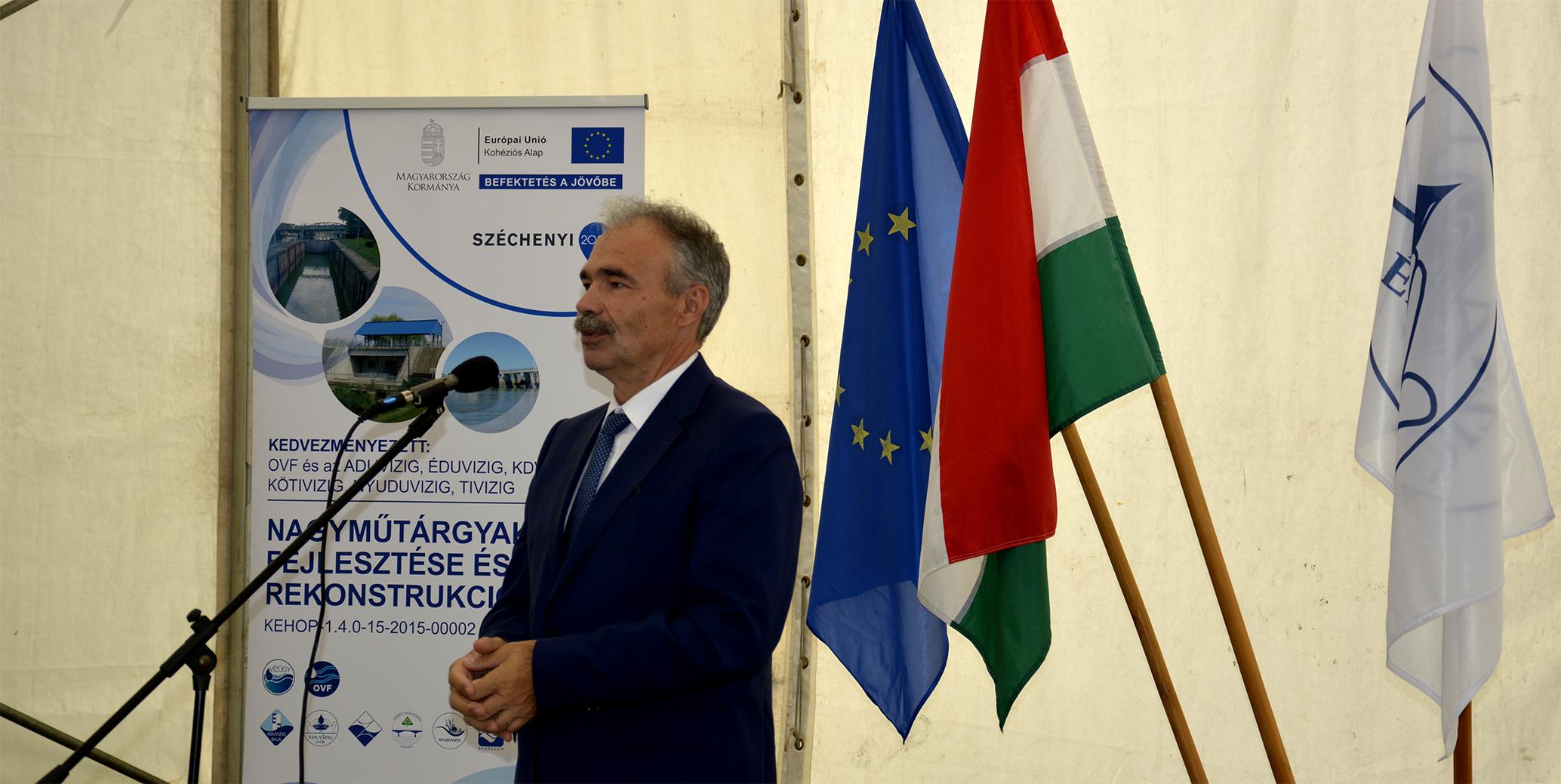 vízi mútárgyak fejlesztése projektnyitó rendezvény - Nagy István agrárminiszter, országgyűlési képviselő