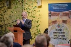 Dr. Nagy István az agrártárca parlamenti államtitkára, a Győr-Moson-Sopron Megyei Gazdakörök és Gazdaszövetkezetek Szövetsége tájékoztató fórumán