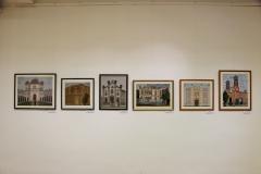 Siklósiné B. Judit gobelin kiállítás megnyitó Mosonmagyaróváron