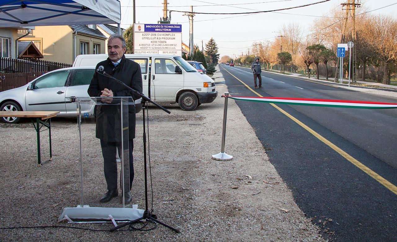 Jánossomorja kerékpárút átadó ünnepség - dr. Nagy István miniszter, országgyűlési képviselő