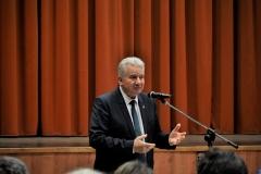 Lakossági fórum Jánossomorja, Jakab István a MAGOSZ elnöke, az Országgyűlés alelnöke