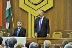 Lakossági Fórum Mosonmagyaróvár  Nagy István Fidesz-KDNP országgyűlési képviselőjelölt, Kövér László, az Országgyűlés elnöke