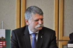 sajtótájékoztató Mosonmagyaróvár - Kövér László, az Országgyűlés elnöke