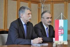 sajtótájékoztató Mosonmagyaróvár - Nagy István Fidesz-KDNP országgyűlési képviselőjelölt, Kövér László, az Országgyűlés elnöke