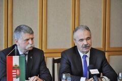 sajtótájékoztató Mosonmagyaróváron - Nagy István Fidesz-KDNP országgyűlési képviselőjelölt, Kövér László, az Országgyűlés elnöke
