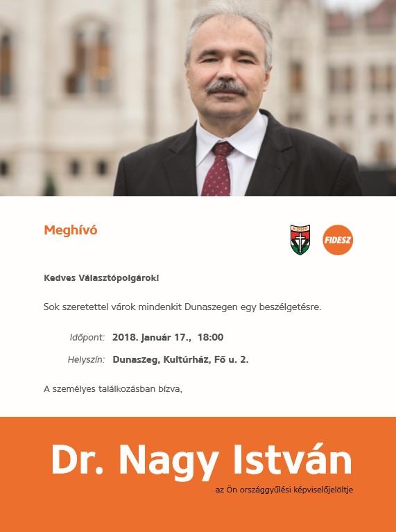 Lakossági fórum Dunaszeg - Dr. Nagy István