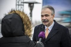 Dr. Nagy István országgyűlési képviselő, FM államtitkár - M15-ös út bővítés - alapkőletétel 2018.02.08.