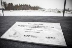 M15-ös út bővítés - alapkőletétel 2018.02.08.