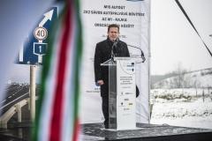 Pántya József, NIF Zrt., M15-ös úr bővítése, alapkőletétel