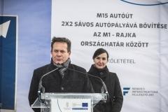 Széles Sándor kormánymegbízott - M15-ös úr bővítése, alapkőletétel