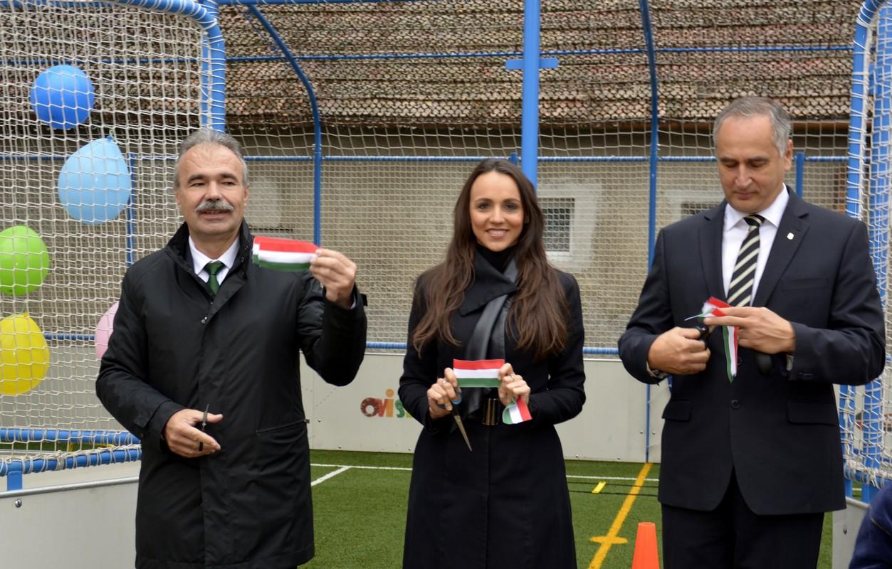 Multifunkcionális Ovi-Sport pálya átadó Mosonmagyaróvár - dr. Nagy István miniszter, országgyűlési képviselő
