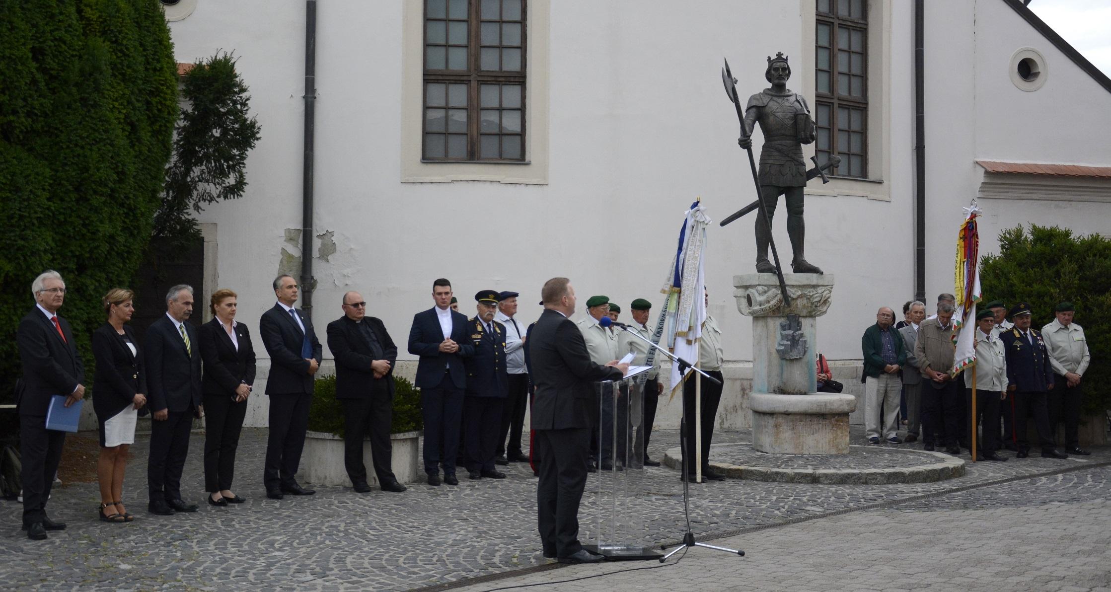 Szent László Nap - megemlékezés, koszorúzás Mosonmagyaróvár - Nagy István miniszter