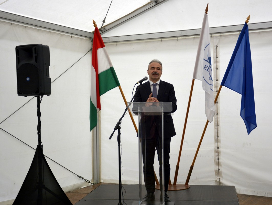 Felső-Duna mellékág-rendszerének árvízvédelme és vízpótlása I. ütem projektnyitó rendezvény - Nagy István miniszter