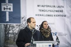 M1 tengelysúlymérő állomás átadása - Kertesi Tamás a NIF Zrt. műszaki igazgatója