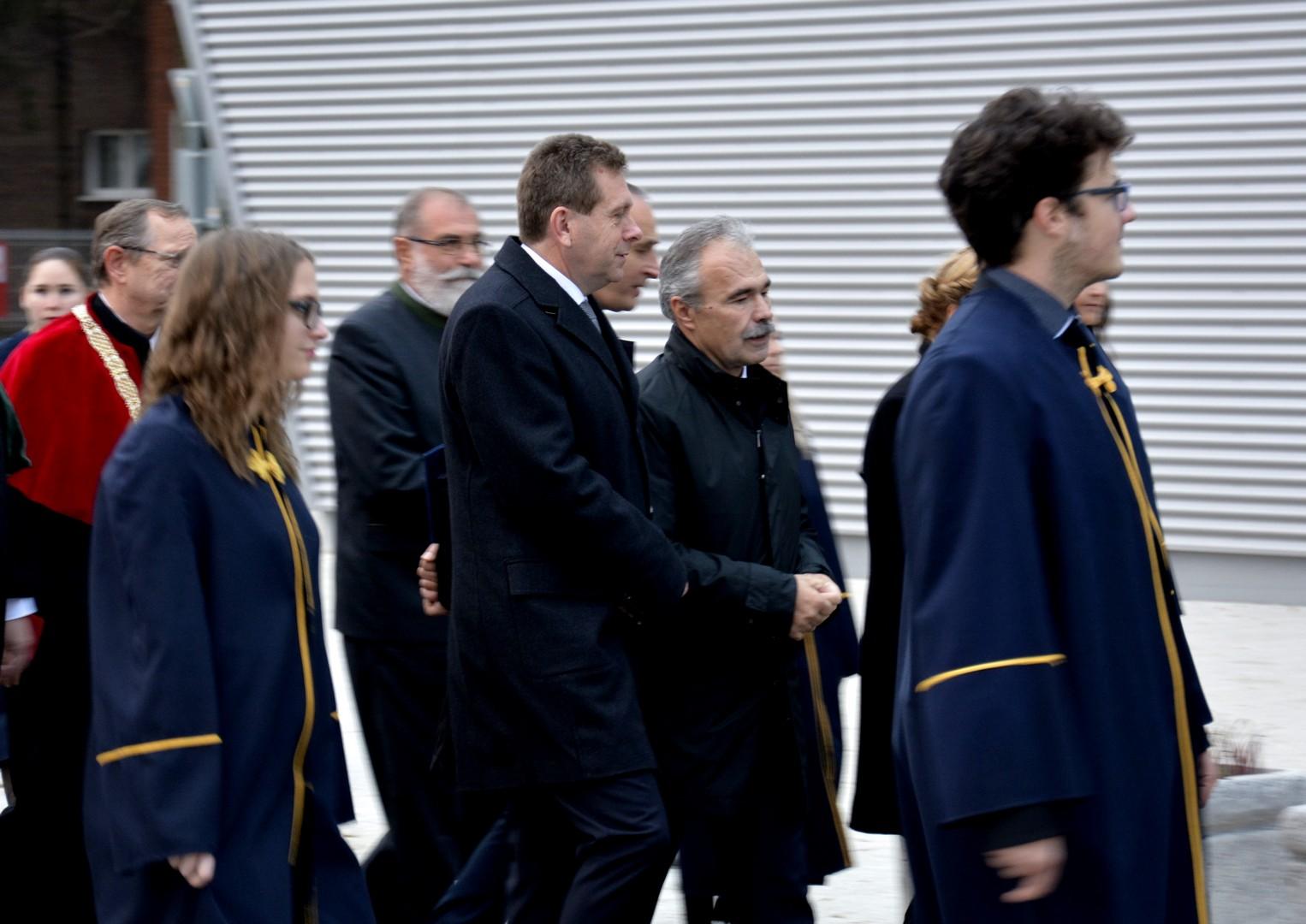 kétszáz éves jubileumi agrár-felsőoktatási ünnepség, felvonulás Mosonmagyaróvár - Nagy István miniszter
