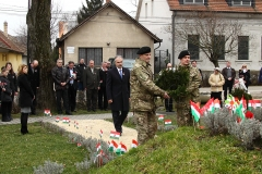 Dr. Nagy István koszorúz - Lébény március 15.